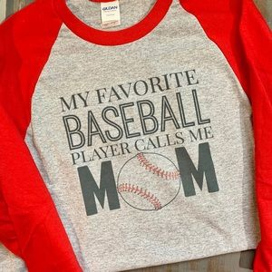 Custom made baseball tee